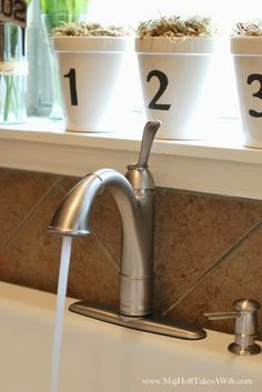 Easy kitchen faucet installation. Amazingly simple! Moen Walden Kitchen Faucet Install & Review www.MajHoffTakesAWife.com