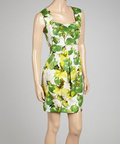 Take a look at this Green Floral Tropicana Dress by Pink Martini Collection on #zulily today!