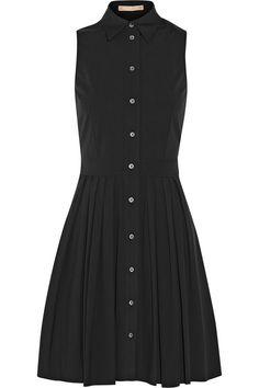 Michael Kors|Cotton-poplin mini shirt dress|NET-A-PORTER.COM - so classic