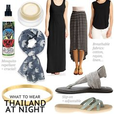 What to wear in Thailand at night: Women's casual dress code suggestions