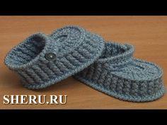 (crochet) How To Crochet Simple Baby Booties - Yarn Scrap Friday Crochet Baby Boots Pattern, Crochet Baby Booties Tutorial, Crochet Sole, Baby Moccasin Pattern, Mode Crochet, Baby Girl Crochet, Crochet Baby Shoes, Crochet Slippers, Diy Crochet