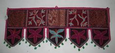 INDIAN HAND EMBROIDERY TORAN DOOR VALANCE DOOR DECOR WINDOW TOPPER HANGINGS VR55 #Handmade