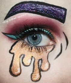 Some pop art inspired makeup! www.orlabyrne.com