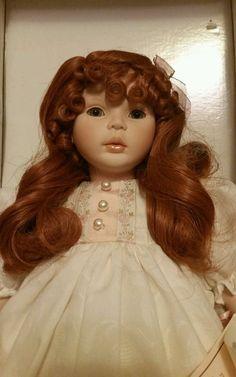 Brooke Porcelain Doll Pauline Bjonness Jacobsen Red Head signed 78/950 LE IOB #Dolls
