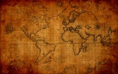 Old World Map 1920x1200 download