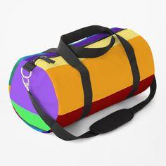 Duffel Bag, Print Design, Shoulder Strap, Stripes, Rainbow, Baggage, Designs, Classic, Cute