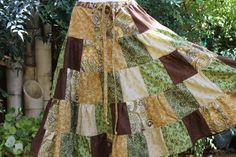 Hippie Patchwork Skirt OOAK Festival Clothes by frans2hands