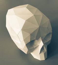 #papercraft #skull