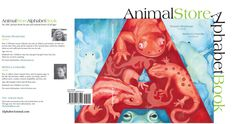 Final cover spread for the Animal Store Alphabet Book.