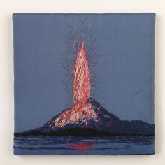Volcanoes and meteors are some of the recent subjects stitched together by embroidery artist Ankie Vytopil.