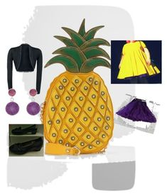 """lycd pineapple inspired"" by marjomanner on Polyvore featuring LYDC and Pomegranate"