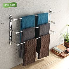 WeiYuWuXian® 304 Stainless Steel 23.6 Inch Polished Finish Three Towel Bars Towel Rack 2016 - $72.92