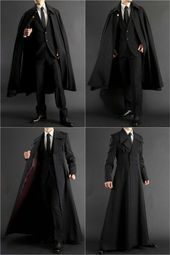 Long coat + formal robe for all your suiting and wizarding needs. Long coat + formal robe for all your suiting and wizarding needs.,Clothes reference Long coat + formal robe for all your suiting. Mode Outfits, Fashion Outfits, Fashion Trends, Fashion Clothes, Fashion Pants, Fashion Coat, Clothes Swag, Men Clothes, Stylish Clothes