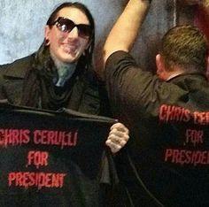 Yessss! Chris Cerulli for president!
