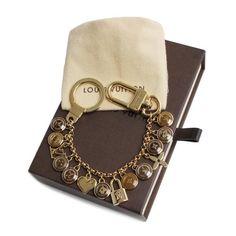 Louis Vuitton Porte Cle Chaine Bastille  Other Brown Metallic M65386