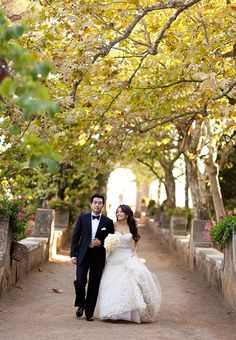 The bride and groom just before their gorgeous Italian wedding | Brides.com