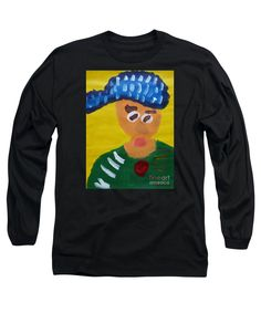 Patrick Francis Black Long Sleeve T-Shirt featuring the painting Portrait Of Camille Roulin - After Vincent Van Gogh by Patrick Francis