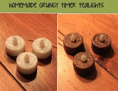 This Mama's Cave: Homemade Grungy Timer Tealights