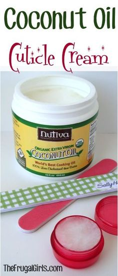 Coconut Oil Cuticle Cream - Repair dry cuticles with this simple little trick! Coconut Oil Beauty, Coconut Oil Uses, Coconut Cream, Beauty Secrets, Beauty Hacks, Beauty Ideas, Dry Cuticles, Diy Beauty Treatments, Homemade Beauty Products