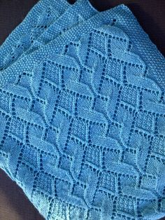 Free knitting pattern for Sand Dunes Baby Blanket in moss stitch and diamond heart lace and more baby blanket knitting patterns