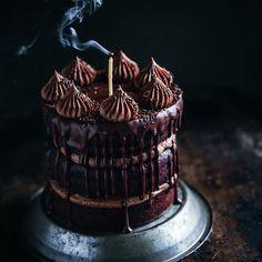 Chocolote cake with chocolate hazelnut frosting
