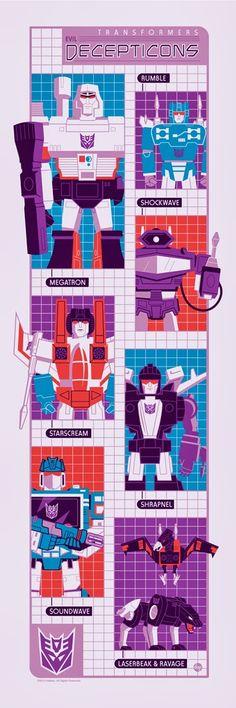 Transformers - Decepticons by Dave Perillo