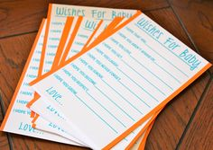 wishes for baby activity - boy baby shower