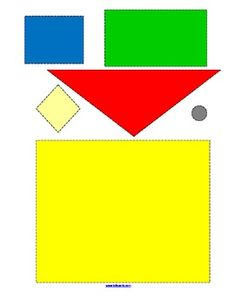 This is a collection of 22 shapes puzzle pictures to make (11 color, 11 b/w), either by cutting and pasting the puzzle pieces, or laminating and creating centers. Some puzzles are easier/harder than others, for differentiated learning. $