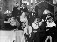 """soyouthinkyoucansee: """" Soyouthinkyoucansee Albert Harlingue / Roger-Viollet - Le Monocle, a special cabaret for women in Montmartre, Paris, 1930 (beautiful styled) vintage photo (-rare! Couples Vintage, Vintage Lesbian, Lesbian Art, Lesbian Love, Lesbian Pride, Cabaret, Norman Bates, Le Monocle, Old Photos"""