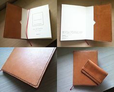 a note cover with 'MIDORI diary' & a case for name card -   They are the gifts to my brother in law for his birthday!