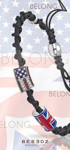 ◑Each Country has got its style, British or American...get YOUr #BEEDZ !◐  BELONG collection. It s your #country. The place that made you who you are today. Lines on a map, imprinted in your #heart. The food. The songs. The #language and legends. So wear your #flag with pride and be where #you came from. #jewels #bracelets #glamour #luxury #fashion