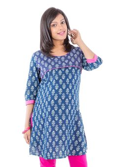 Blue Maternity Kurta
