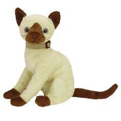 TY Beanie Baby - SIAM the Siamese Cat (7 inch)