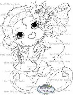 New Hug-able Bestie Bears I Luv You img539 digi stamp My Besties By Sherri Baldy