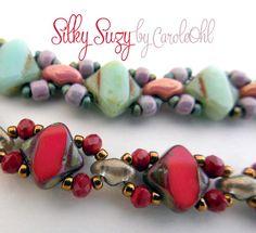 Silky Suzy Bracelet Tutorial by Carole Ohl