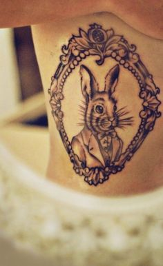alice-in-wonderland-tattoo-rabbit-framed-mirror.jpg (488×799)