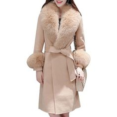 Blue Long Sleeve Faux Fur Coat /Look Sharp and Stay Toasty How To Dress Professional in Cold Weather Business Casual Attire Fall Winter Outfits Winter Fall Fashion Business Casual Attire, Girl Sleeves, Professional Dresses, Business Professional, Wrap Coat, Look Chic, Fur Coat, Camel Coat, Winter Coat