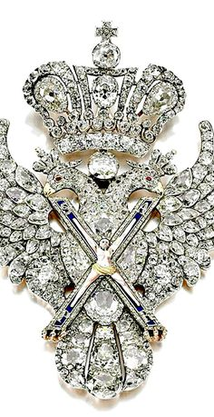 The Order of St Andrew, dating from 1800, belongs to the Russian crown jewels and is worth £2.7m.