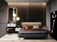 Elegant Bedroom Design, Modern Luxury Bedroom, Bedroom Bed Design, Elegant Home Decor, Luxurious Bedrooms, Bedroom Designs, Loft Interior, Master Bedroom Interior, Modern Interior Design