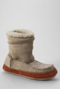 Women's Sweater Bootie Slippers from Lands' End    Very soft & cozy. They will be in our stockings. A must have for the cold Northeast winters.