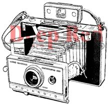 Deep Red Stamps - Cling Mounted Rubber Stamp - Polaroid Camera