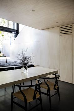 The Elysium House project involved alterations within the envelope of a Grand Victorian Terrace in inner city Sydney, Australia. Newtown House, Communal Table, Victorian Terrace, Residential Interior Design, Modern House Design, Decoration, Living Area, Architecture Design, Contemporary