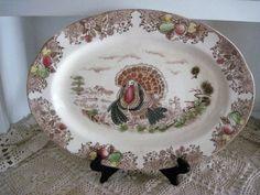 Vintage Transferware Turkey Platter Pre War by vintageexchange, $25.00