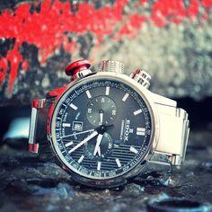 Edox Chronorally Chronograph #edox #edoxswisswatches #chronorally #red #pusher #chronograph #sport #rally #racing #swissmade #swisswatches #wotd #edoxfans #followus