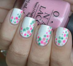 A Dotticure! Cute spring nail idea
