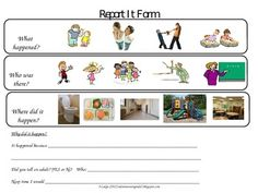 Behavior Reflection Form (Tattle vs. Tell) Great for Behavior evidence collection too! only $2 for both forms.