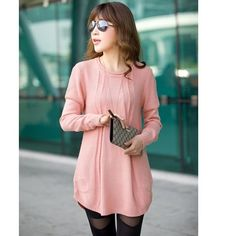 Hot Sale Winter New Long SleeveKnitted Pullover Round Neck 2017 Women Jumper Loose Sweater Knitwear Tops Free Size