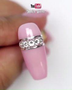 nail art designs for spring . nail art designs for spring 2020 . nail art designs with glitter Pink Nail Art, Cute Acrylic Nails, Gel Nail Art, Nail Art Diy, Easy Nail Art, Diy Nails, Nail Polish, Glam Nails, Bling Nails
