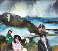Gill Watkiss b 1938 - Paintings for Sale - Clark Art Ltd - Specialists in L. Lowry and Modern British Art West Cornwall, Clark Art, Rock Pools, St Ives, Love Photos, Paintings For Sale, Cape, Contemporary Art, Artists