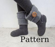 Leg warmers/ Ugg boots cuff PDF pattern for Knitting by Nawanowe